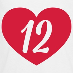 12th birthday heart Long Sleeve Shirts