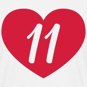 11 birthday heart T-Shirts - Men's T-Shirt