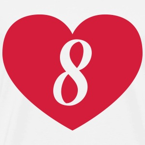 8 birthday heart T-Shirts - Men's Premium T-Shirt
