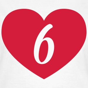 6th birthday heart T-Shirts - Women's T-Shirt