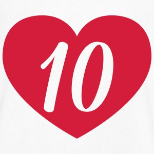 10th birthday heart T-Shirts - Men's V-Neck T-Shirt