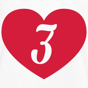 3. birthday heart T-Shirts - Men's V-Neck T-Shirt