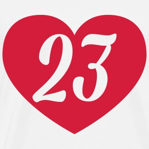 23rd birthday heart T-Shirts - Men's Premium T-Shirt