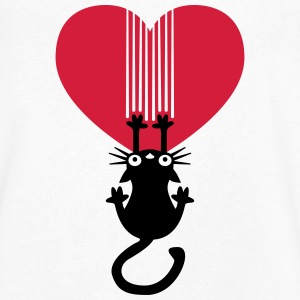 Cat heart T-Shirts - Men's V-Neck T-Shirt