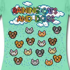 Dunkle Minze Raining cats and dogs T-Shirts - Frauen T-Shirt