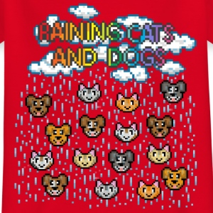 Rot Raining cats and dogs T-Shirts - Teenager T-Shirt