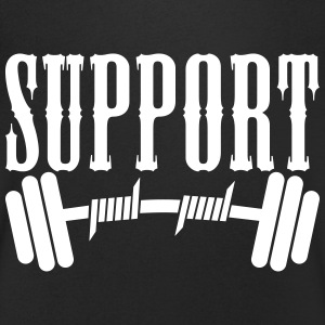 Support Bodybuilding T-Shirts - Men's V-Neck T-Shirt