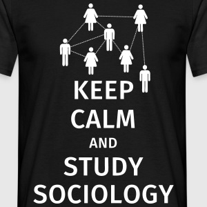 keep calm and sociology T-skjorter - T-skjorte for menn