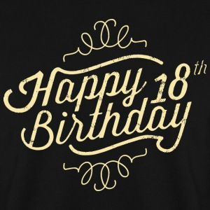 Happy 18 Birthday retro Pullover & Hoodies - Männer Pullover