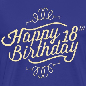 Happy 18 Birthday retro T-Shirts - Männer Premium T-Shirt