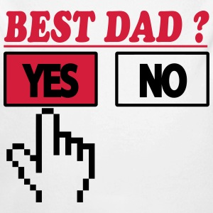 Best dad ? Yes Baby body - Baby bio-rompertje met lange mouwen