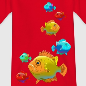 Kinder T-Shirt Fisch Barsch Angeln Aquarium Fluss - Kinder T-Shirt