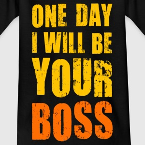 Kinder T-Shirt One day I will be Your boss Chef - Kinder T-Shirt