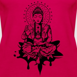 Buddha in the lotus position Tops - Women's Premium Tank Top