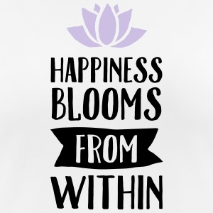 Happiness Blooms From Within T-shirts - vrouwen T-shirt ademend