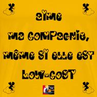 Motif ~ Aime ma COMPAGNIE, même si elle est LOW-COST - Jeux de Mots Francois Ville