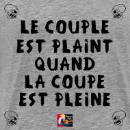 Motif ~ Le COUPLE est PLAINT quand La COUPE est PLEINE - Jeux de Mots Francois Ville