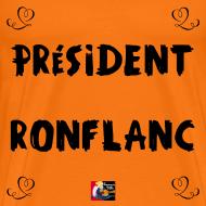 Motif ~ PRÉSIDENT RONFLANC - Jeux de Mots Francois Ville
