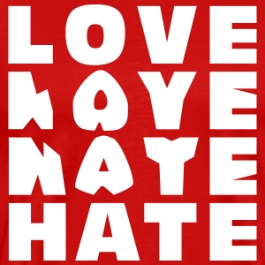 LOVE HATE T-skjorter - Premium T-skjorte for menn
