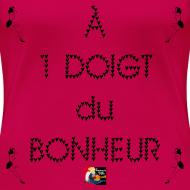 Motif ~ À 1 DOIGT du BONHEUR - Jeux de Mots Francois Ville