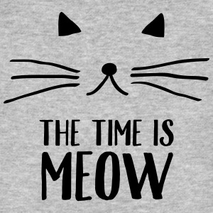 The Time Is Meow Magliette - T-shirt ecologica da uomo