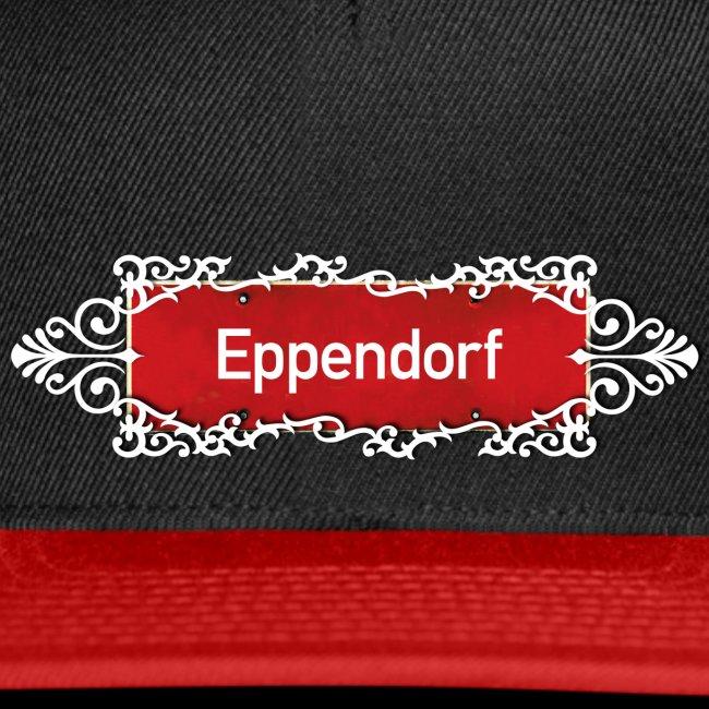 (Hamburg) -Eppendorf Ortsschild mit Ornament, Kiez-Cap