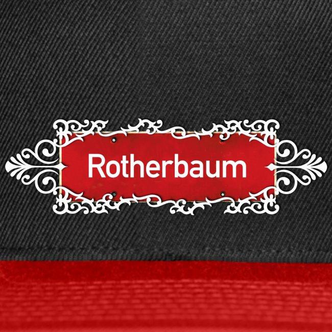 (Hamburg) -Rotherbaum Ortsschild mit Ornament, Kiez-Cap
