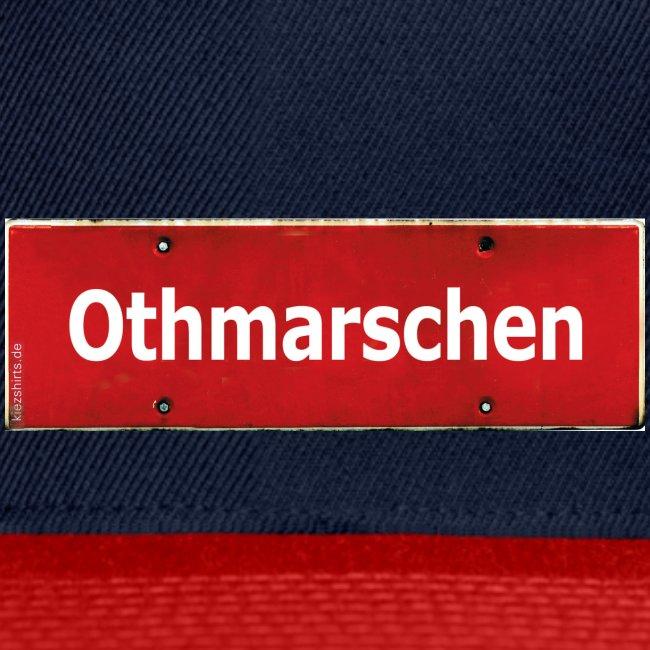 Mein Hamburg, mein Othmarschen, meine Kiez-Cap: Ortsschild rot antik