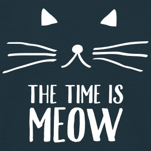 The Time Is Meow T-Shirts - Men's T-Shirt