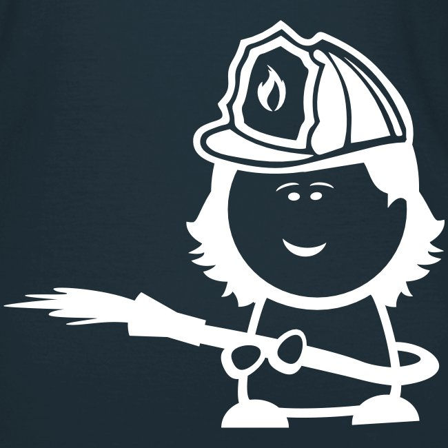 Retter-Nerd-Firefighter-Girl