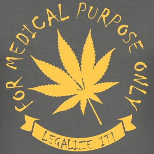 Legalize medical Cannabis Tee shirts - Tee shirt près du corps Homme