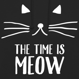 The Time Is Meow Sweaters - Hoodie unisex