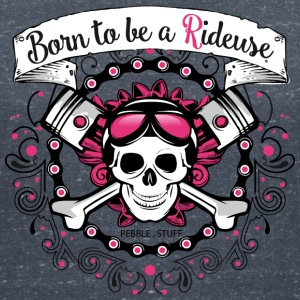 Born to be a Rideuse - T-shirt col V Femme