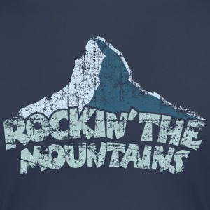 Rockin the Mountains T-Shirt (Damen/Navy) - Frauen Premium T-Shirt