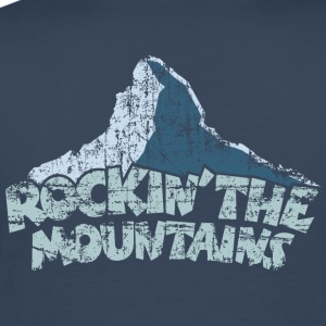 Rockin the Mountains T-Shirt (Herren/Navy) - Männer Premium T-Shirt