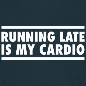 Running Late Is My Cardio T-skjorter - T-skjorte for menn