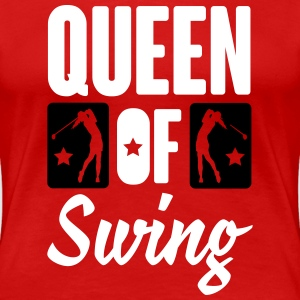 Golf: Queen of swing T-Shirts - Women's Premium T-Shirt