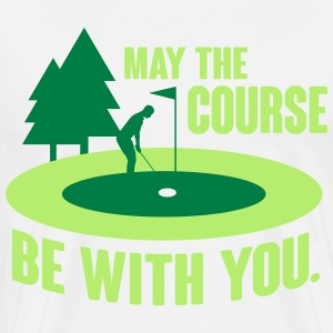 May the course be with you - golf Camisetas - Camiseta premium hombre