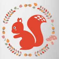 Motif ~ tasse écureuil