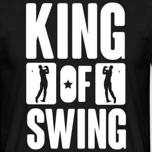 King of swing - Golf T-shirts - Herre-T-shirt
