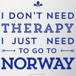 I don't need Therapy, I just need to go to Norway Tassen & Zubehör - Tasse zweifarbig