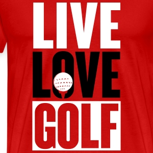 Live love golf T-Shirts - Men's Premium T-Shirt