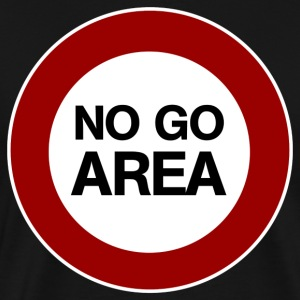 no go area T-shirts - Mannen Premium T-shirt