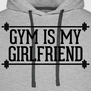 Gym Is My Girlfriend  Bluzy - Bluza męska Premium z kapturem