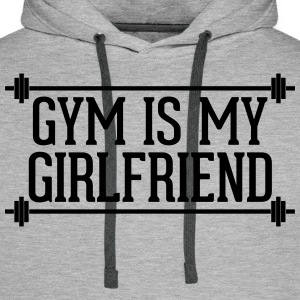 Gym Is My Girlfriend  Tröjor - Premiumluvtröja herr