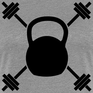 Crossed Kettle Bell T-Shirts - Frauen Premium T-Shirt