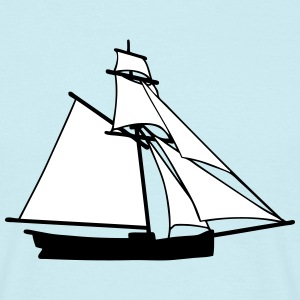 sailboat cutter ship T-Shirts - Männer T-Shirt
