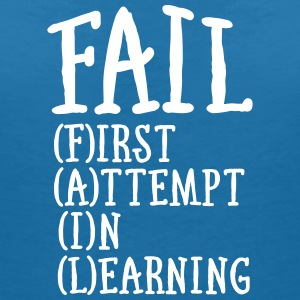 Fail - First Attempt In Learning T-shirts - T-shirt med v-ringning dam