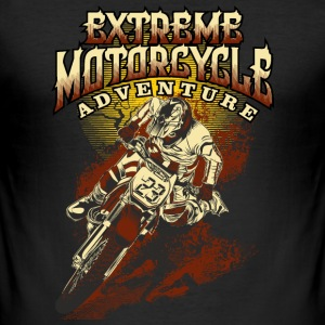 Bikerdesign extreme motorcycle Enduro - RAHMENLOS® T-Shirts - Männer Slim Fit T-Shirt