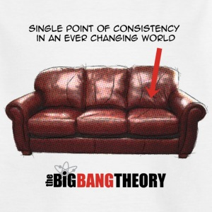The Big Bang Theory Le sofa de Sheldon Tee shirt A - T-shirt Ado